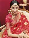 photo of Wedding Special Wedding Wear Art Silk Red Fancy Saree With Jacquard Work And Lace Border