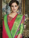 photo of Crimson Color Fancy Wedding Wear Traditional Saree In Cotton Silk
