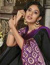 photo of Wedding Function Wear Fancy Black Cotton Silk Saree
