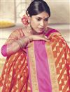 photo of Wedding Function Wear Fancy Rust Color Art Silk Saree