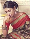 photo of Designer Fancy Function Wear Brown Saree In Art Silk