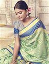 photo of Art Silk Fancy Wedding Wear Traditional Saree In Sea Green