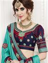 photo of Cyan Color Georgette Fancy Saree With Work