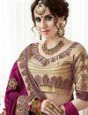 photo of Burgundy Color Embellished Georgette Wedding Wear Saree