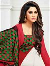 photo of Red Color Cotton Office Wear Straight Cut Churidar Salwar Suit