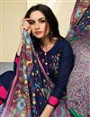 photo of Cotton Fancy Straight Cut Salwar Suit With Printed Dupatta