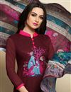 photo of Straight Cut Cotton Churidar Dress With Printed Dupatta