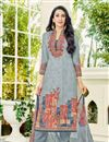 image of Karishma Kapoor Straight Cut Cotton Printed Salwar Kameez