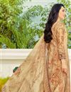photo of Karishma Kapoor Cream Printed Salwar Suit In Cotton