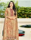image of Karishma Kapoor Cream Printed Salwar Suit In Cotton