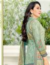 photo of Karishma Kapoor Straight Cut Printed Dress In Cotton Sea Green