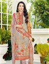image of Karishma Kapoor Cotton Casual Wear Printed Suit In Chikoo