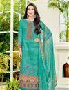 image of Karishma Kapoor Cotton Cyan Printed Casual Dress