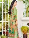 photo of Karishma Kapoor Green Printed Casual Wear Salwar Suit In Cotton