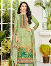 image of Karishma Kapoor Green Printed Casual Wear Salwar Suit In Cotton