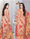 image of Karishma Kapoor Straight Cut Cotton Fabric Printed Salwar Kameez In Chikoo Color