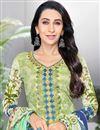 photo of Karishma Kapoor Sea Green Printed Salwar Suit In Cotton Fabric