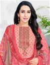 photo of Karishma Kapoor Cotton Fabric Straight Cut Printed Salwar Kameez In Salmon Color