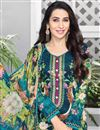 photo of Karishma Kapoor Cotton Fabric Casual Printed Salwar Suit In Teal