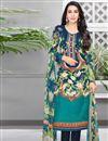 image of Karishma Kapoor Cotton Fabric Casual Printed Salwar Suit In Teal