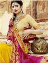 photo of Mustard Georgette Occasion Wear Bandhani Style Half N Half Saree