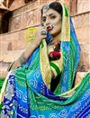 photo of Green Traditional Wear Georgette Bandhani Style Half N Half Saree