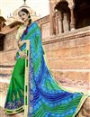 image of Green Traditional Wear Georgette Bandhani Style Half N Half Saree