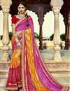 image of Multi Color Georgette Occasion Bandhani Style Wear Saree
