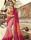 image of Traditional Wear Georgette Bandhani Style Half N Half Saree In Pink