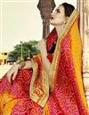 photo of Georgette Designer Bandhani Style Saree In Orange