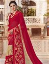 image of Embroidered Sangeet Function Wear Saree In Red Georgette