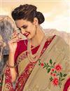 photo of Wedding Wear Designer Embroidered Saree In Cream Georgette