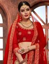 photo of Red Embellished Fancy Function Wear Lehenga Choli In Net