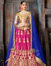 image of Navratri Special Rani Color Designer Embroidered Net Fabric Lehenga Choli