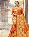 image of Tempting Orange Function Wear Art Silk Saree With Weaving Work