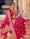 photo of Engaging Crimson Art Silk Designer Saree With Weaving Work