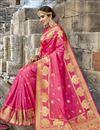 photo of Dazzling Weaving Work On Rani Party Wear Art Silk Saree