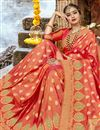 photo of Orange Weaving Work On Festive Wear Saree In Art Silk Fabric