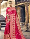 image of Excellent Art Silk Dark Pink Designer Saree With Weaving Designs