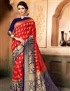 image of Traditional Wedding Function Wear Saree In Art Silk Red