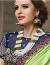 photo of Border Work Fancy Art Silk Wedding Wear Saree