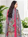 photo of Karishma Kapoor Grey Printed Suit In Cotton Fabric