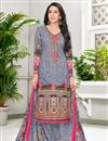 image of Karishma Kapoor Grey Printed Suit In Cotton Fabric