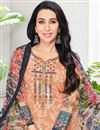photo of Karishma Kapoor Cotton Fabric Printed Dress In Chikoo Color