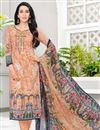 image of Karishma Kapoor Cotton Fabric Printed Dress In Chikoo Color