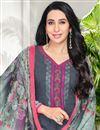 photo of Karishma Kapoor Printed Grey Cotton Fabric Dress