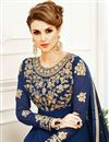 photo of Festive Special Navy Blue Georgette Occasion Wear Anarkali Suit With Embroidery Work