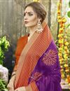 photo of Purple Color Art Silk Party Wear Saree With Weaving Work