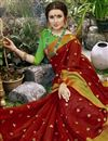photo of Occasion Wear Maroon Weaving Work On Art Silk Saree With Border