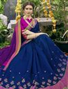 photo of Art Silk Navy Blue Designer Saree With Weaving Work And Heavy Border